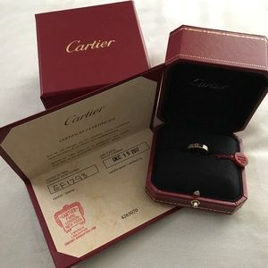 Cartier love rose gold ring. NEVER BEEN USED.